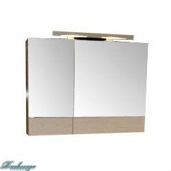 Зеркало-шкаф Aquanet Тоника 90 белый дуб без светильника