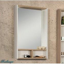 Зеркало Акватон Йорк 55 белое/дуб сонома