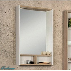 Зеркало Акватон Йорк 60 белое/дуб сонома