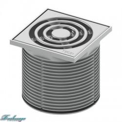 Базовая решетка Tece 10*10 с монтажным элементом пластик