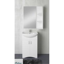 Комплект мебели 1MarKa Альфа 55Н белый глянец