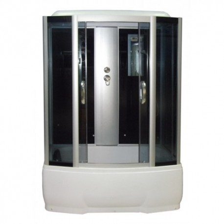 Душевая кабина Водный мир ВМ-8862, черные стенки, 150x70х215, тонированные стекла
