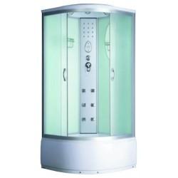 Душевая кабина Водный мир ВМ-8808, светлые стенки, 90x90х215, тонированные стекла