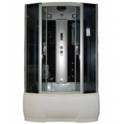 Душевая кабина Водный мир ВМ-8206, черные стенки, 150x85х215, белые рифлёные стекла