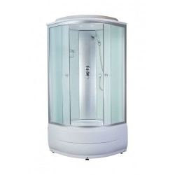 Душевая кабина Aquapulse 4101 D матовые стекла, светлые стенки, размер 80x80x220.