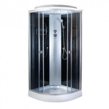 Душевая кабина Aquapulse 4121 D тонированные стекла, черные стенки, размер 80x80x220.