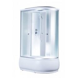 Душевая кабина Aquapulse 4106D L матовые стекла, белые стенки, размер 120x80x220. Левосторонняя