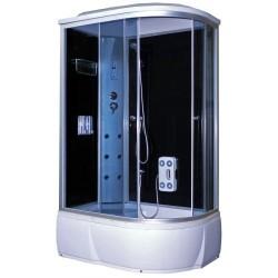 Душевая кабина Aquapulse 3106А L тонированные стекла, черные стенки, размер 120x80x220. Левосторонняя