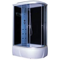Душевая кабина Aquapulse 3106B L тонированные стекла, черные стенки, размер 120x80x220. Левосторонняя
