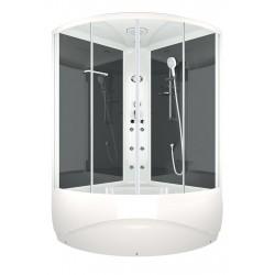 Душевая кабина DOMANI-Spa Vitality high,черные стенки,блок управления,гидромассаж, размер 120x120x219см,прозрачное стекло
