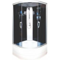Душевая кабина Водный мир ВМ-8811, черные стенки, 80x80х215, тонированные стекла