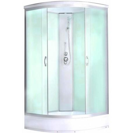 Душевая кабина Водный мир ВМ-883Е,низкий поддон,светлые стенки,размер 80x80x215 см матовые стекла