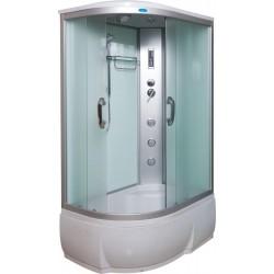 Душевая кабина Водный мир ВМ-8802 комфорт,правый угол,высокий поддон,светлые стенки,размер 120x80x215 см матовые стекла