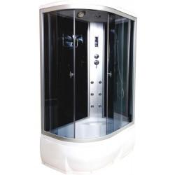 Душевая кабина Водный мир ВМ-886,правый угол,высокий поддон,черные стенки,размер 120x80x215 см тонированные стекла