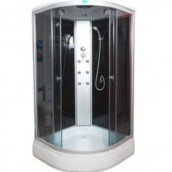 Душевая кабина Водный мир ВМ-882,низкий поддон,черная стенка размер 90x90x215 см тонированные стекла