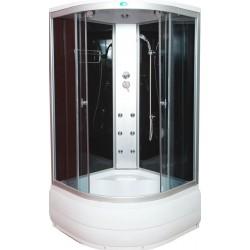 Душевая кабина Водный мир ВМ-889,высокий поддон,черная стенка размер 90x90x215 см тонированные стекла,гидромассаж спины