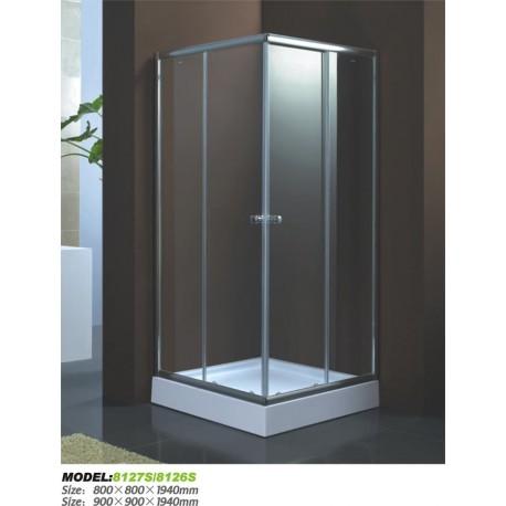Душевой уголок Водный мир ВМ-8127s,низкий поддон 80x80x194 см,матовое стекло