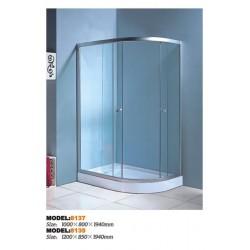 Душевой уголок Водный мир ВМ-8135L,низкий поддон 120x85x194 см,матовое стекло