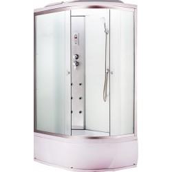 Душевая кабина Aquacubic 3306R fabric white размером 120x80x220 см,правый угол,матовое стекло,белые задние стенки