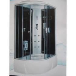 Душевая кабина Aquacubic 3306A R grey black размером 120x80x220 см,правый угол,черное стекло,черные задние стенки