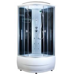 Душевая кабина Aquapulse 4102B размер 90x90x220 см,серое стекло,черные стенки,с электрикой