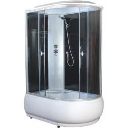 Душевая кабина Aquapulse 4106D L размер 120x80x220 см,левый угол,серое стекло,черные стенки