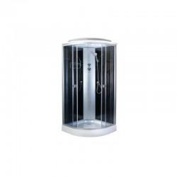 Душевая кабина Aquapulse 4122D размер 80x80x220 см,серое стекло,черные стенки