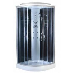Душевая кабина Aquapulse 4122B размер 90x90x220 см,серое стекло,черные стенки,с электрикой