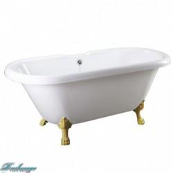 Ванна Faro Комфорт CLDBL73 ножки золото