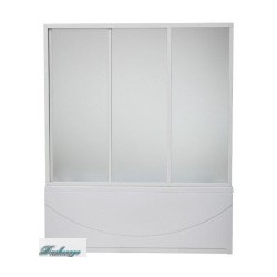 Шторка для ванны Bas Бриз/Верона/Ибица грейп стекло