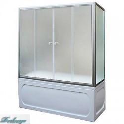 Шторка для ванны 1MarKa 150*140 профиль хром