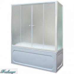 Шторка для ванны 1MarKa 150*140 профиль белый