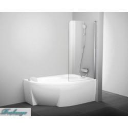 Шторка для ванны Ravak CvsK1 Rosa 160/170 R белая