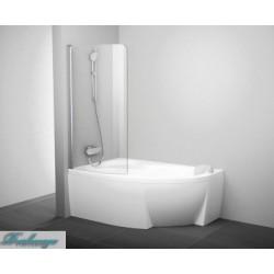 Шторка для ванны Ravak CvsK1 Rosa 160/170 L белая