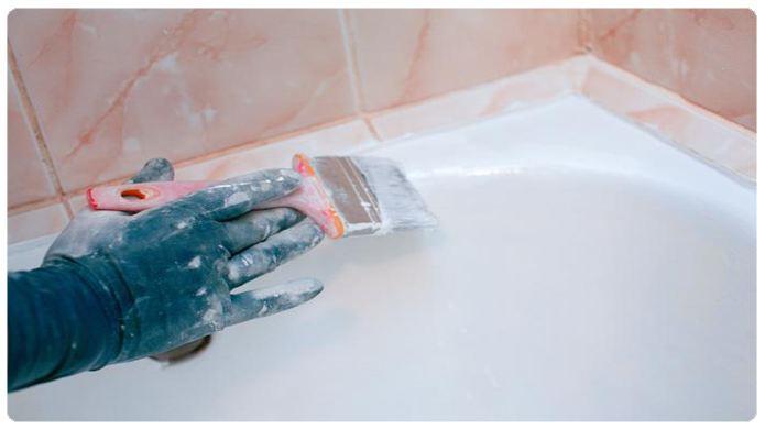 Обработка акриловой ванны Тритон жидким акрилом